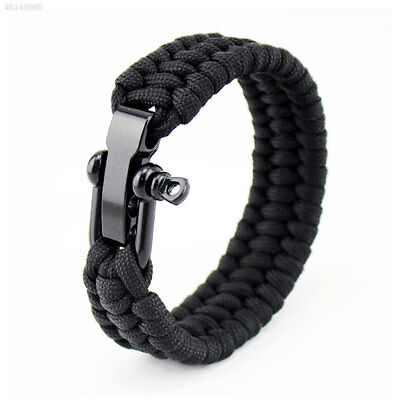 Paracord-Survival Bracelet Rope Wristband Kit Mens-Camping Hiking Emergency Gear