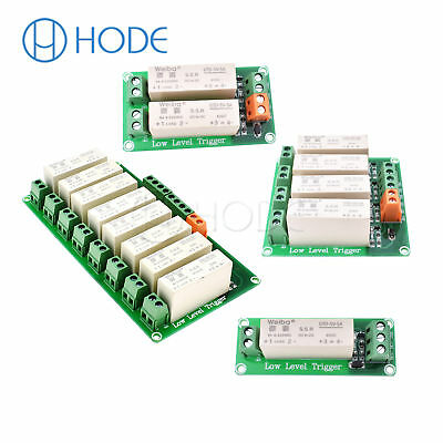 DC-DC 1/2/4/8 Channel SSR Solid State Relay Low Trigger 5A 0-2V for Arduino UK