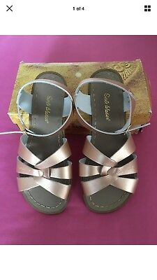 Saltwater sandals UK 6 (EU 39) Rose Gold, Brand new in box!