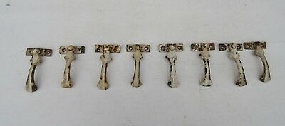 8 Antique ? vintage iron window catches  reclaimed