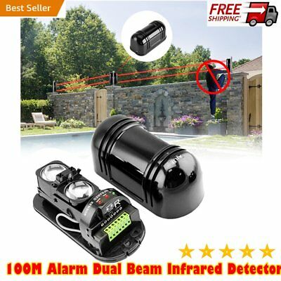 Alarm Dual Beam Photoelectric Infrared Detector 100M Home & Garden Security WZ