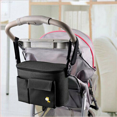 9FDD Baby Strollers Hanging Storage Bag Bottle Diapers Organizer Mommy Pouch