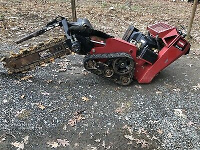 Toro TRX 20 Hydraulic Walk Behind Trencher With Trailer