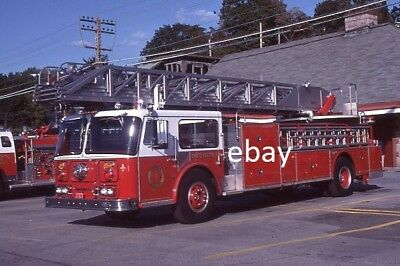 Eastchester NY 1981 Seagrave 100' Aerial Ladder - Fire Apparatus Slide