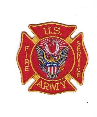 """US United States Army Fire Service 2-3/4"""" hat patch - NEW!"""