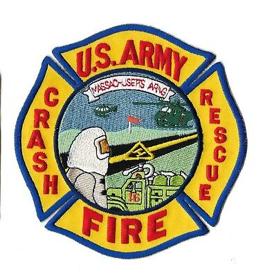 US Army Massachusetts MA ANG Air Nat'l Guard Crash Fire Rescue patch - NEW!
