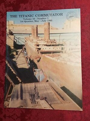 TITANIC Commutator  Vol. 16  #1 1992   Historical Society magazine