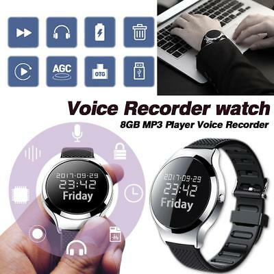 8GB Digital Voice Recorder Wearable Wristband Watch Recorder Pen Audio Recording