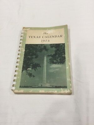 The Texas Calendar 1954- Weekly Calendar with Historical pictures- unused