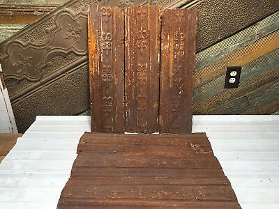 """6pc Lot of 24"""" by 7"""" Antique Ceiling Tin Vintage Reclaimed Salvage Art Craft"""