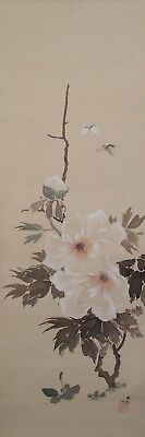 #0325 Japanese Hanging Scroll: Paeonia Suffruticosa
