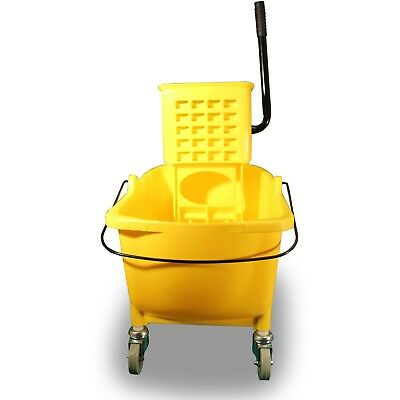 Utility Cart Side Press Mop Cleaning Light Weight Heavy Duty Durable Plastic