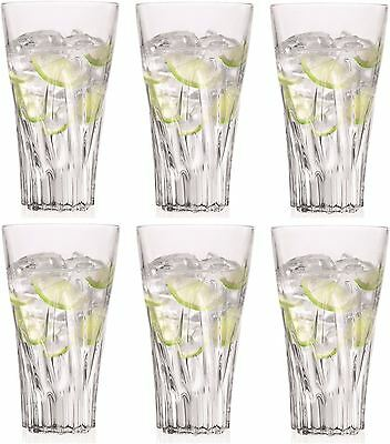 Set of 12X RCR Italian Crystal Fluente Hi-ball Tumbler Glasses- Presentatin Box