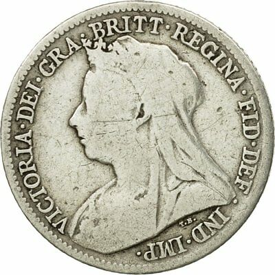 [#524284] Coin, Great Britain, Victoria, 6 Pence, 1900, EF(40-45), Silver