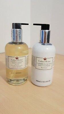 Set of CRABTREE & EVELYN Hand Wash 300ml & Body Lotion 300ml Carribean Island