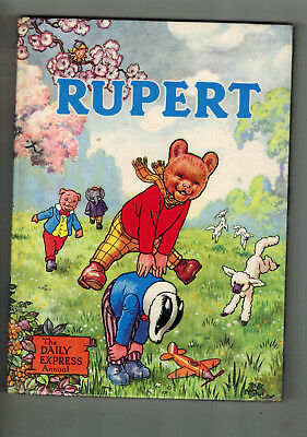 RUPERT ANNUAL 1958 - painting page untouched - VG