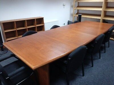 Quality Oak Veneered Boardroom Table