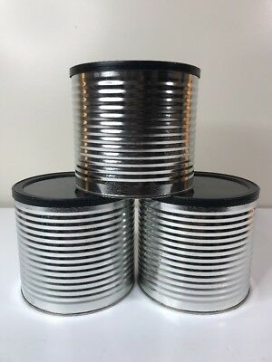 Lot Of 3 Empty Metal Coffee Cans W Lids For Craft Re Purpose