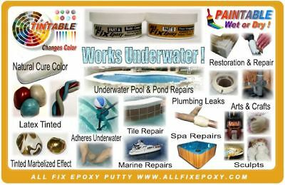 POOL CRACK LEAK REPAIR ALL FIX EPOXY Putty Sealant - CAN BE APPLIED  UNDERWATER