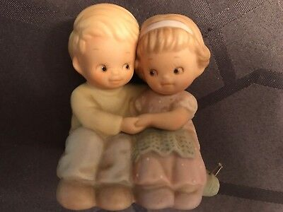 "Enesco Vintage Memories Of Yesterday 135208 ""Anniversary Boy And Girl"""