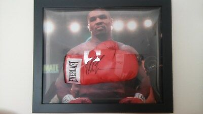 Mike Tyson signed boxing glove framed/displayed with COA