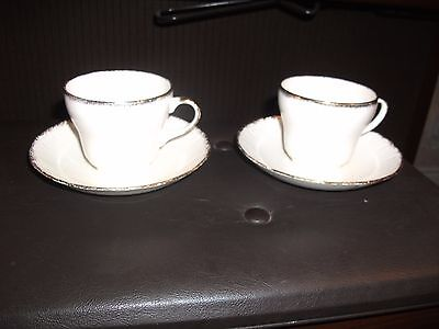 Swinnertons Luxor Vellum 2 Cups and Saucers 15 c m wide  No Chips or Cracks