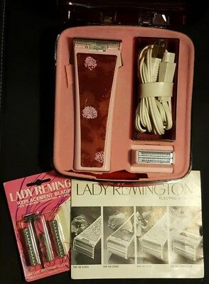 VTG 1973 Pink Lady Remington Electric Shaver Razor MS-140 NEW Replacement Blades