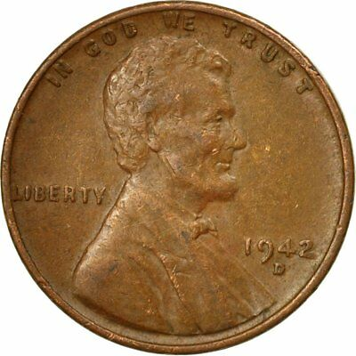 [#524400] Coin, United States, Lincoln Cent, Cent, 1942, U.S. Mint, Denver