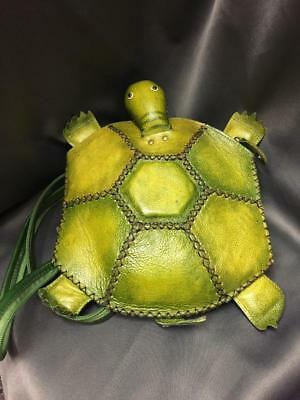 Awesome Unique Handmade Leather Turtle Backpack