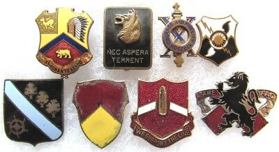 Lot of 8 WWII - Vietnam War US Army unit crests (1)