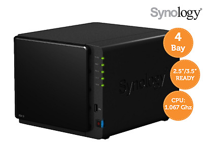 Synology DiskStation DS413 NAS-Server bis 16TB (1GHz Dual-Core, 1GB RAM, 4-Bay)