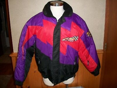 Vtg. Men's SKI-DOO Rotax Power Snowmobile JACKET, Colorful, Sz XL - Excellent
