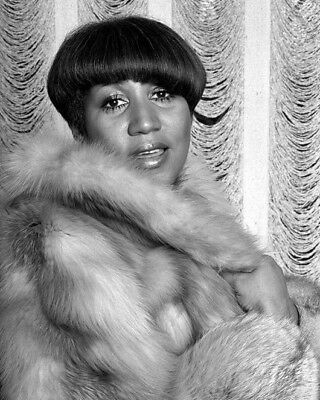 SOUL SINGERS ARETHA FRANKLIN & JAMES BROWN Glossy 8x10 Photo