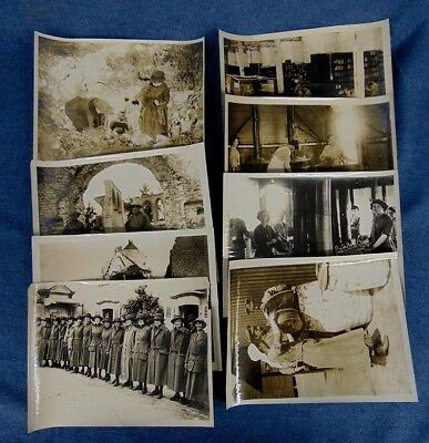 WWI Official British Photographs Military Women Western Front 8pc.