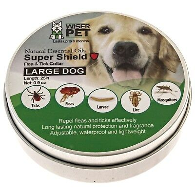 Natural Flea Collar For Dogs - Flea and Tick Protection For Up to 6 Months