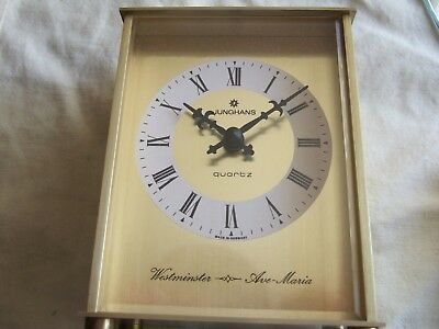 Beautiful RARE Vintage JUNGHANS Brass Westminster & Ave Maria Carriage Clock!