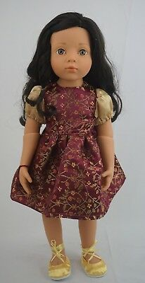 "Gotz Red and gold dress ""Leah"" outfit fits other skinny 18"" dolls"