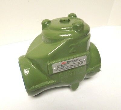 "Swing Check Valve 2"" Npt 2000 Cwp Ductile Iron Screwed Cap Nace         <401Wh1"