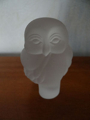 Chouette en cristal ? Médailler Franklin, The Franklin Mint, Owl