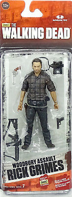 "WOODBURY ASSAULT RICK GRIMES 5"" 12cm ACTIONFIGUR THE WALKING DEAD McFARLANE TOYS"