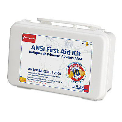 First Aid Only ANSI-Compliant First Aid Kit 64 Pieces Plastic Case 238AN
