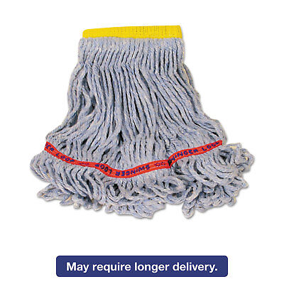 Rubbermaid Commercial Swinger Loop Wet Mop Heads Cotton/Synthetic Blue Small 6