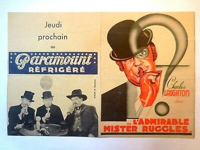 PROGRAMME PARAMOUNT Charles LAUGHTON L'admirable Mister RUGGLES