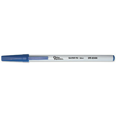 Office Impressions Economy Stick Ballpoint Pen Blue Ink 1 mm 144/Pack 92488