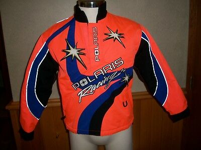 Women's POLARIS Racing Snowmobile JACKET, Orange, Sz 14 - Excellent