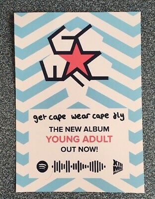 Get Cape Wear Cape Fly - Flyer For Young Adult Album / Southend Gig @ Chinnerys