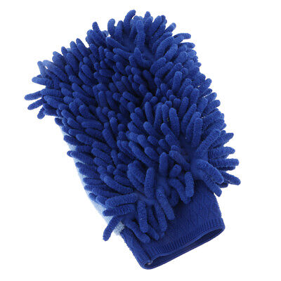 Microfibre Clean Mop Car Household Gloves Duster Cloth Single Side Blue