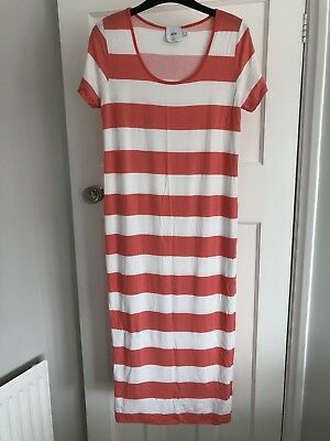 ASOS Maternity midi striped coral dress UK size 12. Excellent condition