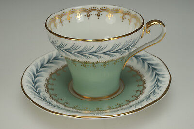 Vintage Jade Green Gold Aynsley Tea Cup & Saucer