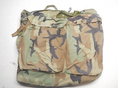 US Army Military Helicopter Pilot Flyers Helmet Bag HGU-56/P Woodland Camo